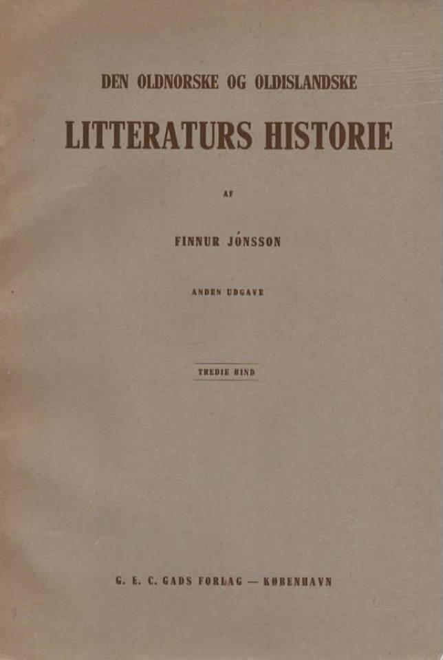 Den oldnorske og oldislandske litteraturs historie