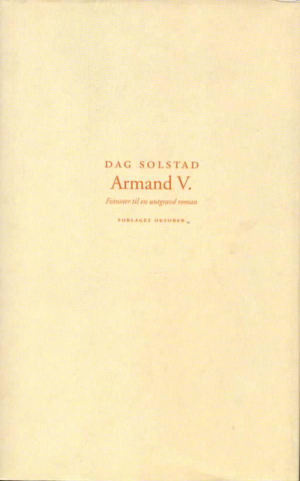 Armand V. – Fotnoter til en uutgravd roman