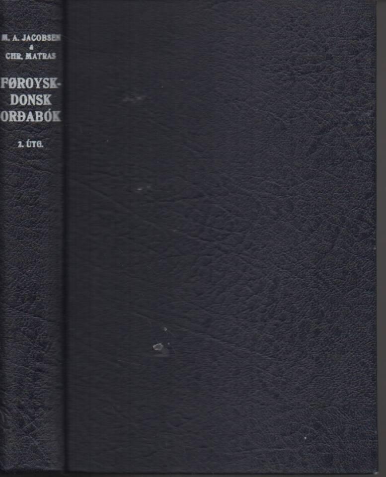 Føroysk - donsk ordabok. Færøsk - dansk ordbog.