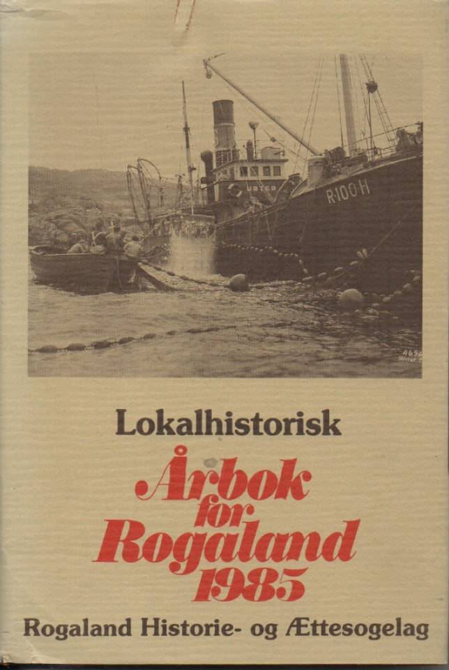 Lokalhistorisk årbok for Rogaland 1985