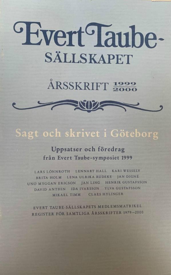Evert Taube-sällskapet - årsskrift 1999-2000