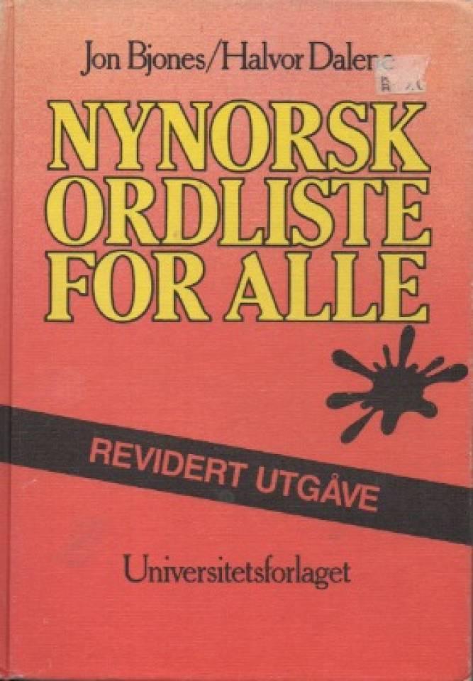 Nynorsk ordliste for alle
