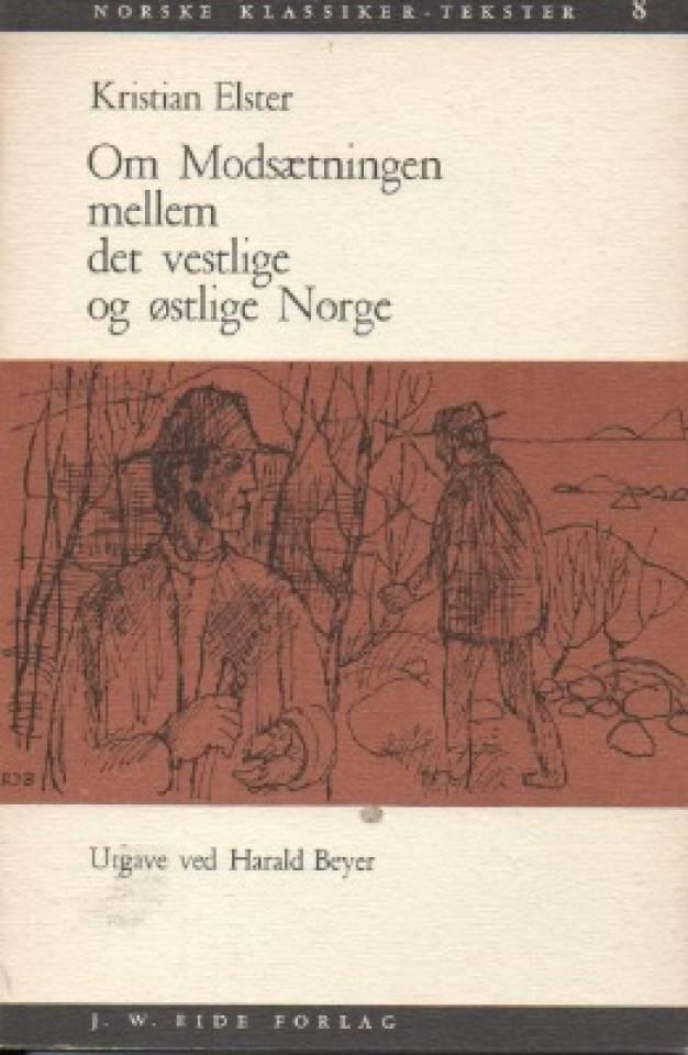 Om Modsætningen mellom det vestlige og østlige Norge