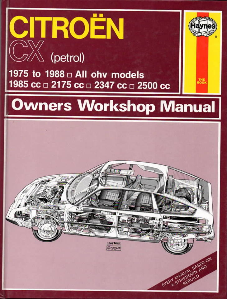 Citroen CX – Owners Workshop Manual