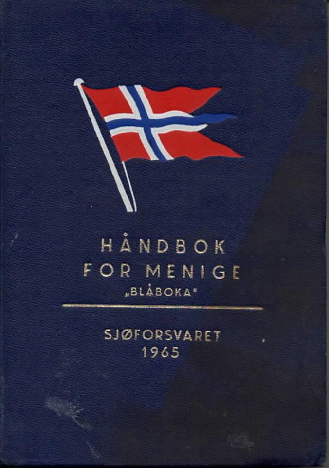 Håndbok for menige «Blåboka» Sjøforsvaret 1965