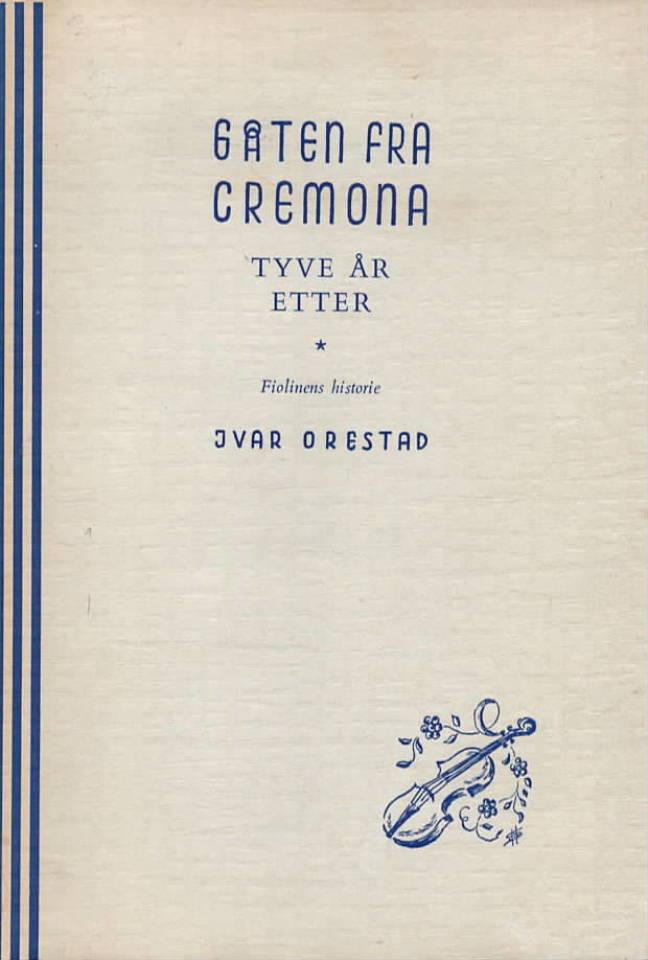 Gåten fra Cremona  Tyve år etter