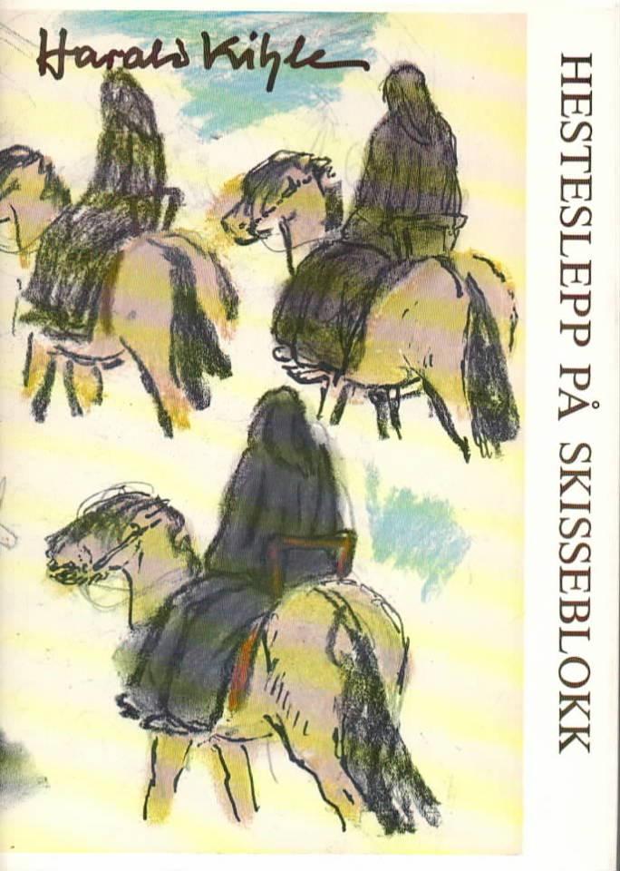 Hesteslepp på skisseblokk