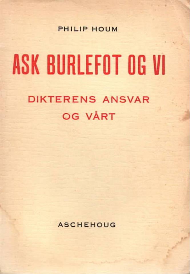 Ask Burlefot – Dikterens ansvar og vårt