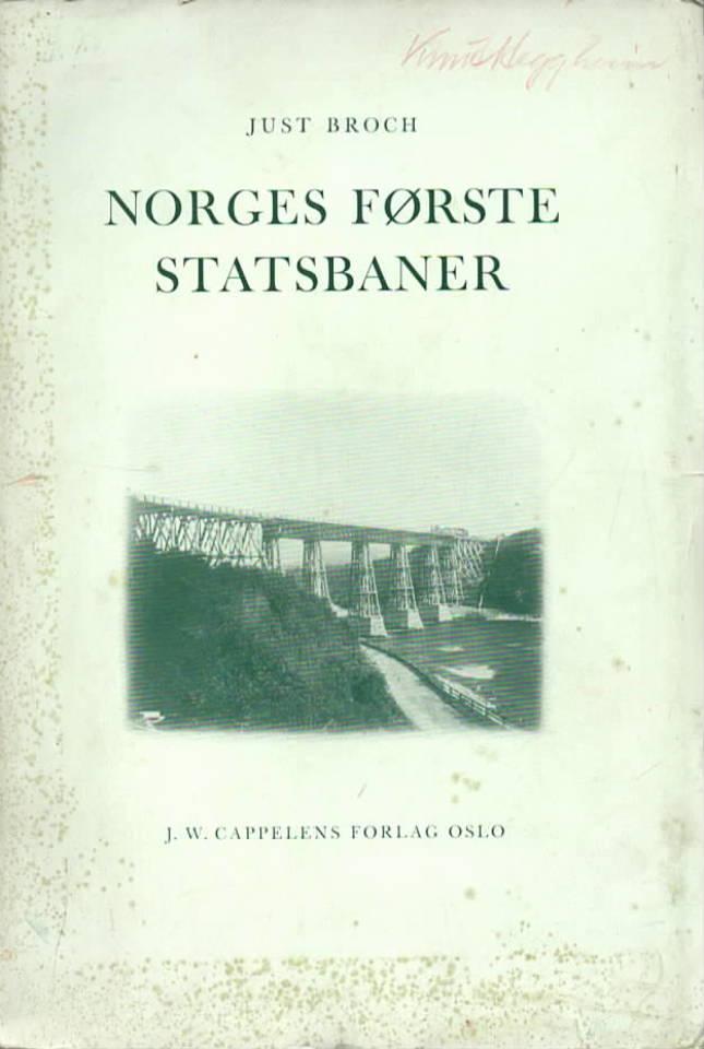 Norges første statsbaner
