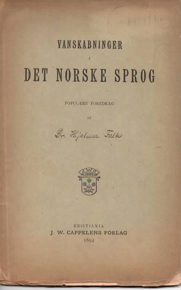 Vanskabninger i det norske sprog