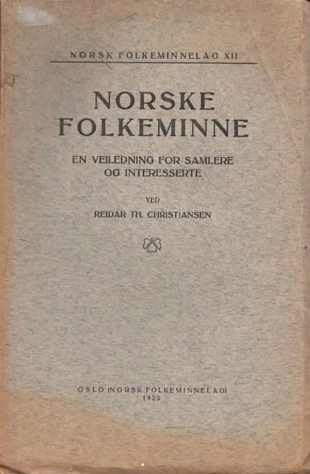 Norsk folkeminne – en veiledning for samlere og interesserte