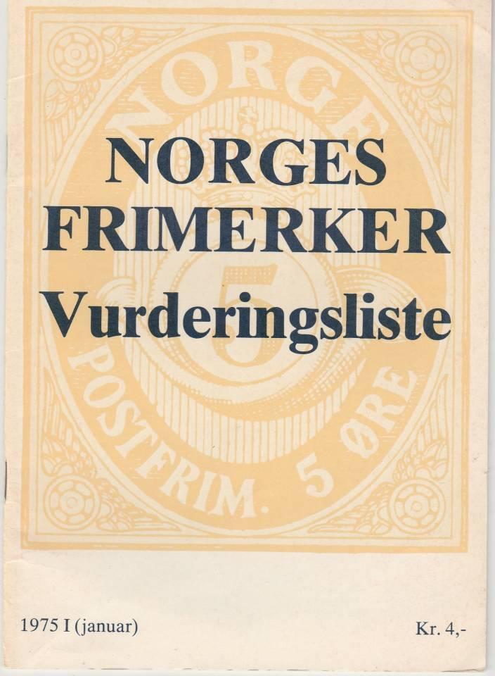 Norges frimerker - vurderingsliste