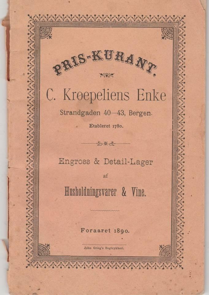Pris-kurant C. Krøepeliens Enke