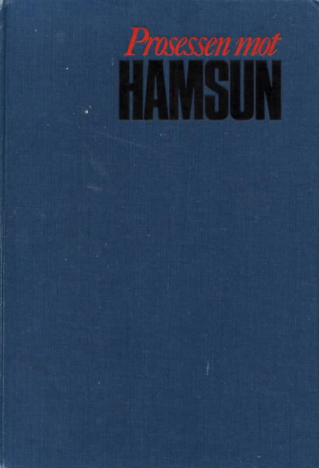 Prosessen mot Hamsun
