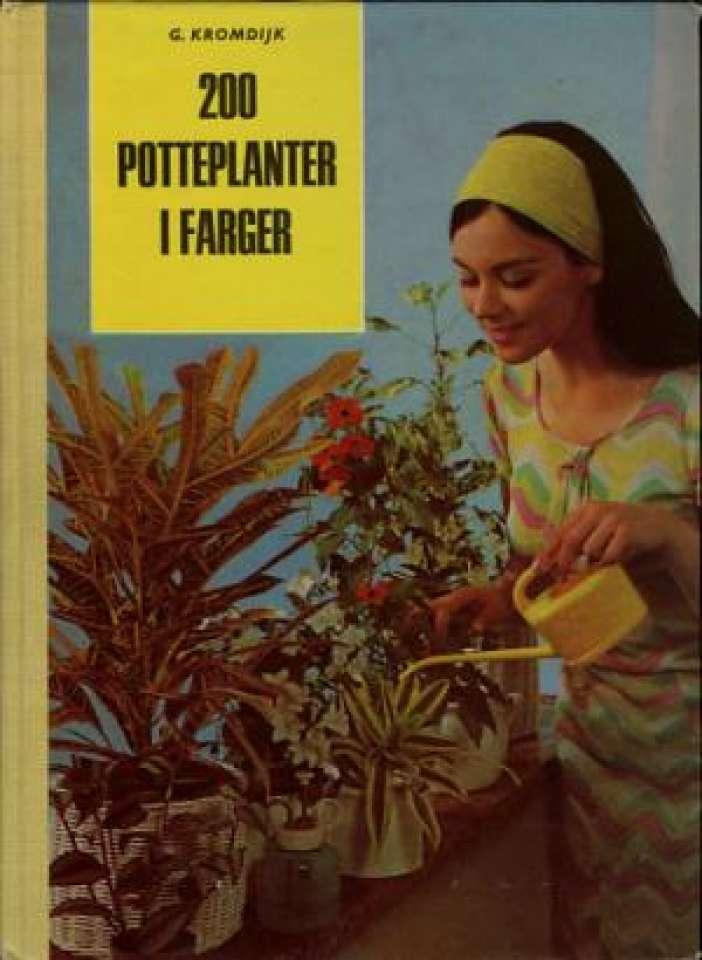 200 potteplanter i farger