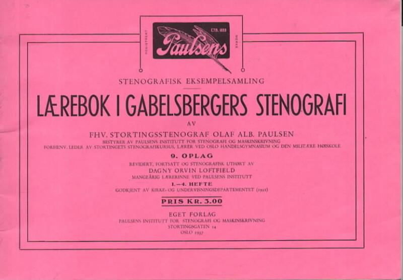 Lærebok i Gabelsbergs stenografi