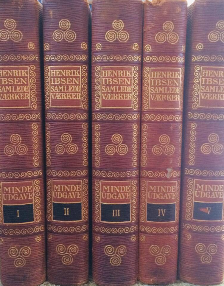 Henrik Ibsen Samlede Værker Mindeudgave  I-V