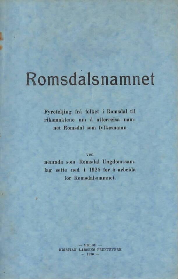 Romsdalsnamnet