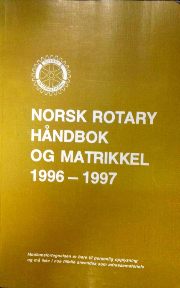 Norsk rotary håndbok og matrikkel 1996 - 1997