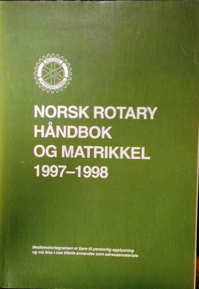 Norsk rotary håndbok og matrikkel 1997 - 1998