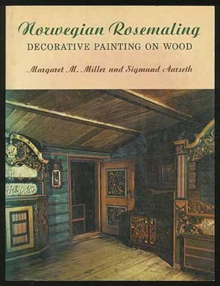 Norwegian rosemaling decorative painting on wood