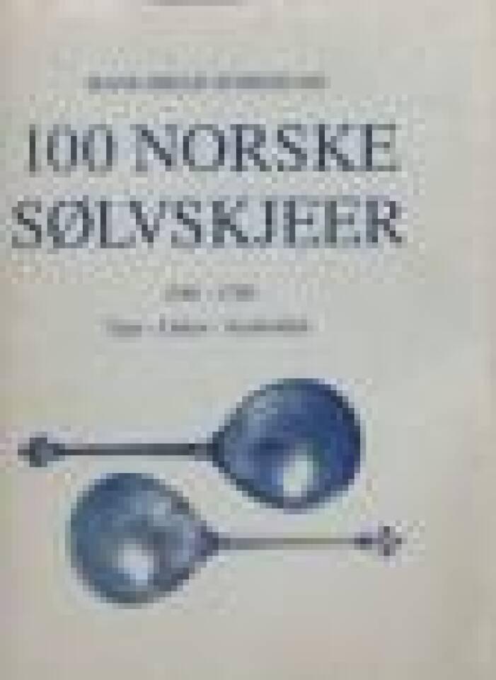100 norske sølvskjeer 1580-1780