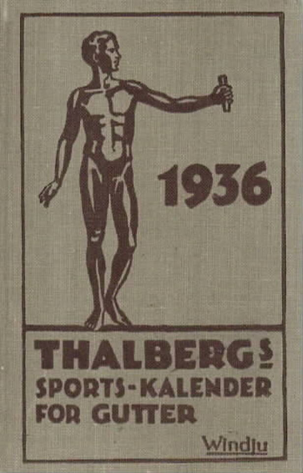 Thalbergs sports-kalender for gutter 1936