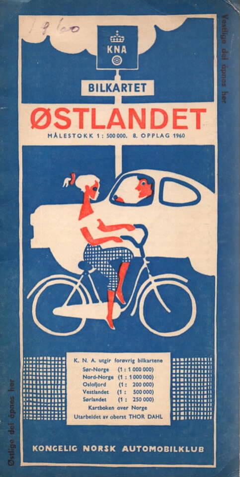 KNA Bilkartet Østlandet 1:500 000