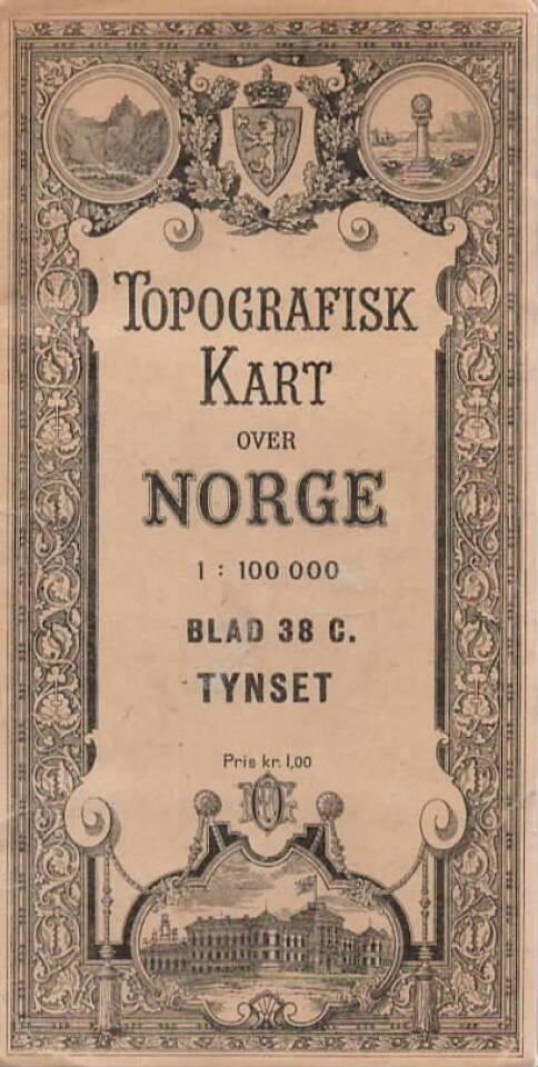 Topografisk kart over Norge – Tynset, Blad 38 C