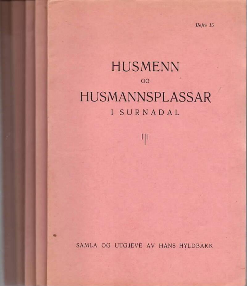 Husmenn og husmannsplassar i Surnadal – Hefte 15,16,17, 18,19