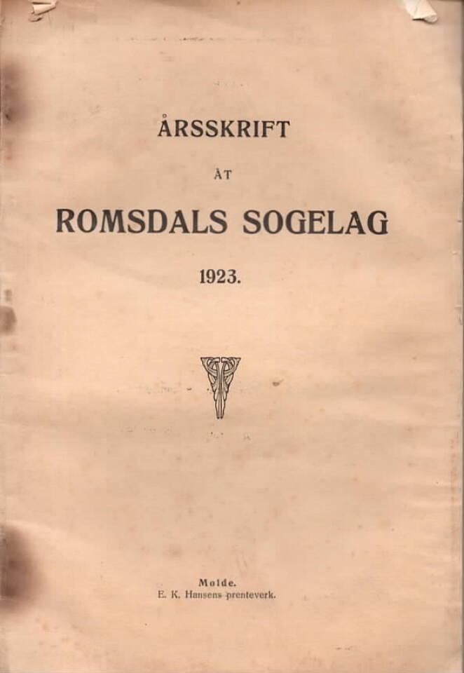Årsskrift åt Romsdals sogelag 1923