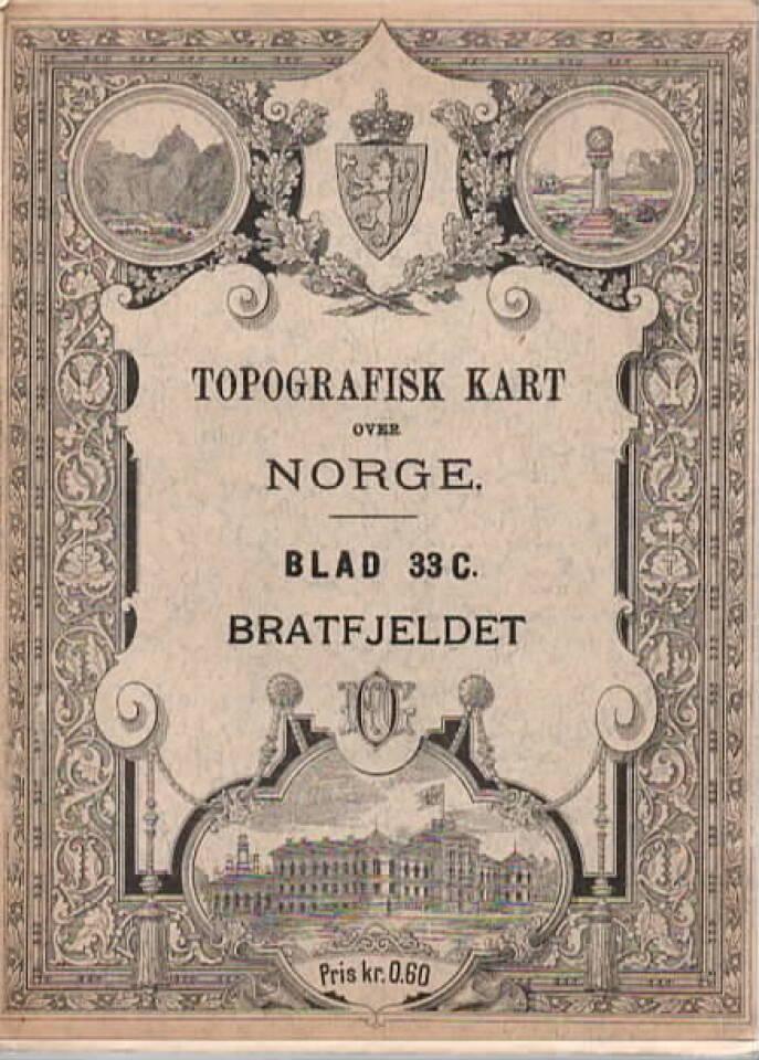 topografisk kart over Norge – Bratfjeldet Blad 33C
