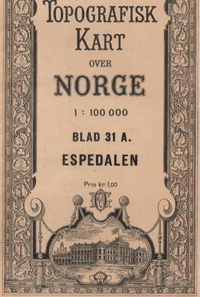 Topografisk kart over Norge – Espedalen blad 31 A