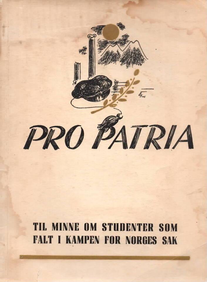 Pro Patria – Til minne om studenter som falt i kampen for Norges tak