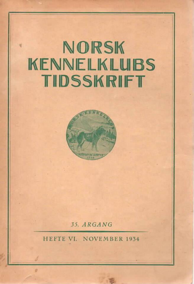 Norsk Kennelklubs tidsskrift Heft. VI nov. 1934