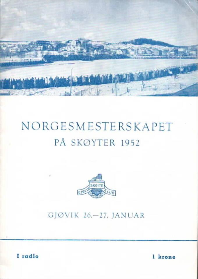 Norgesmesterskapet på skøyter 1952