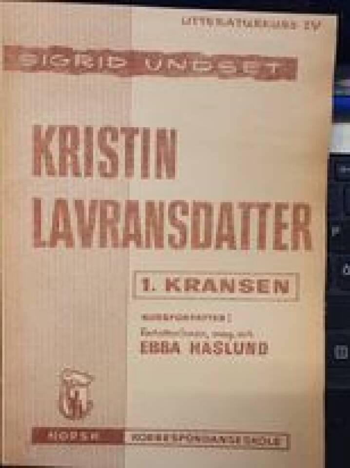 Kristin Lavrandsdatter - norsk korrespondanseskole