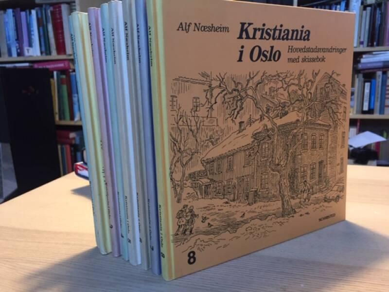 Kristiania i Oslo– hovedstadsvandringer med skissebok 1-8