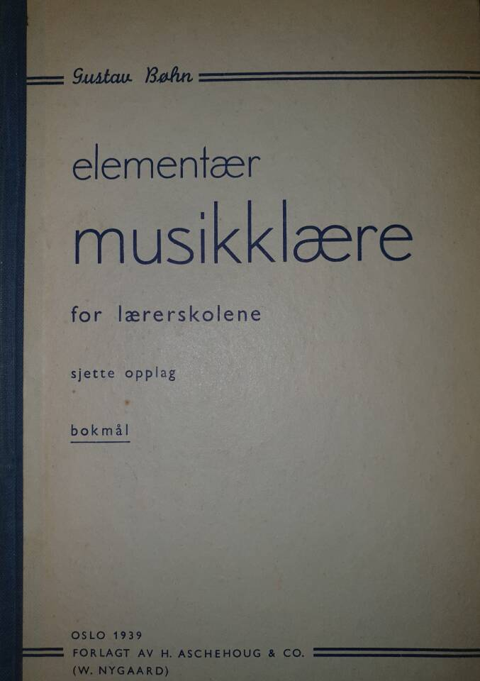 Elementær musikklære