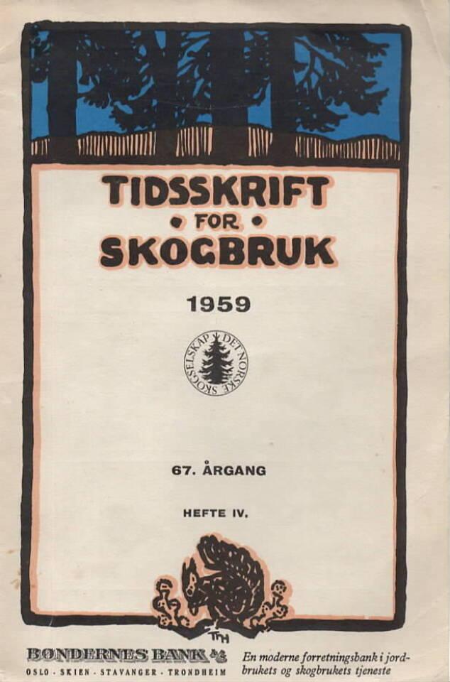 Tidsskrift for skogbruk 1959