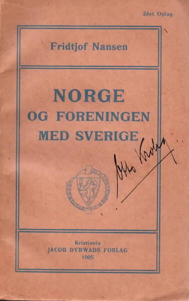 Norge og foreningen med Sverige