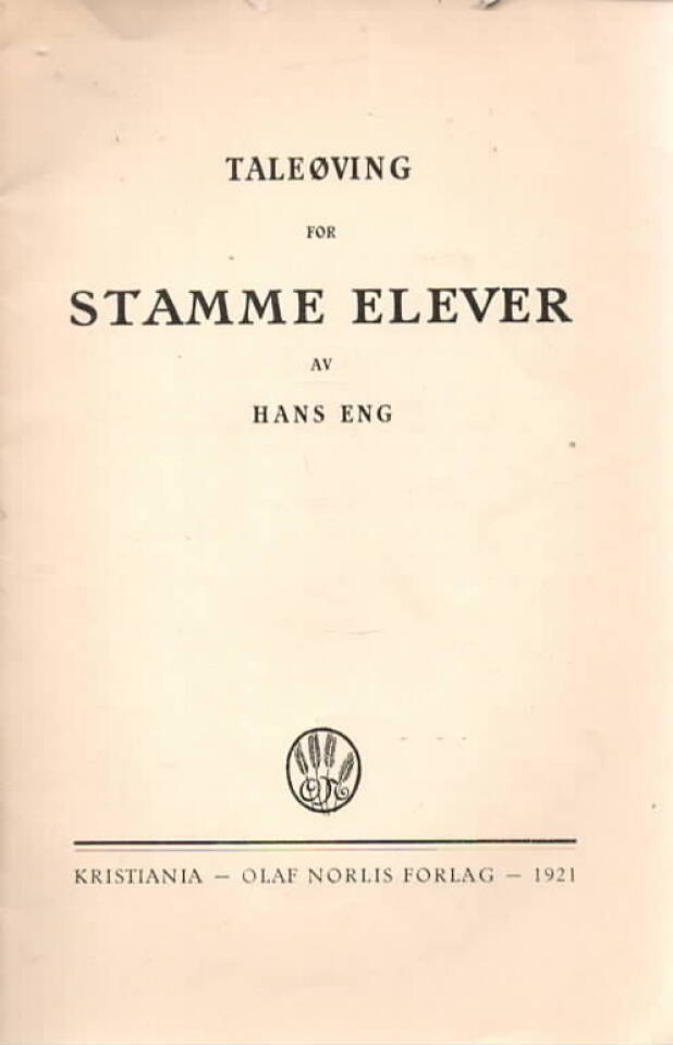 Taleøving for stamme elever
