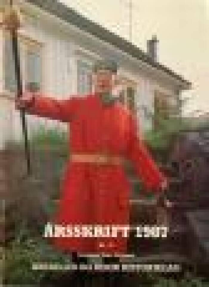 Søndeled historielag Årsskrift 1987