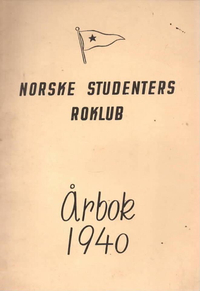Norske studenters roklub – Årbok 1940
