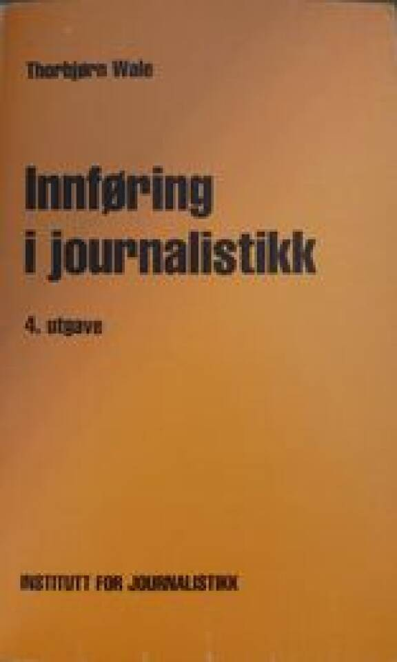 Innføring i journalistikk