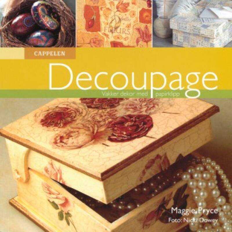 Decoupage vakker dekor med papirklipp