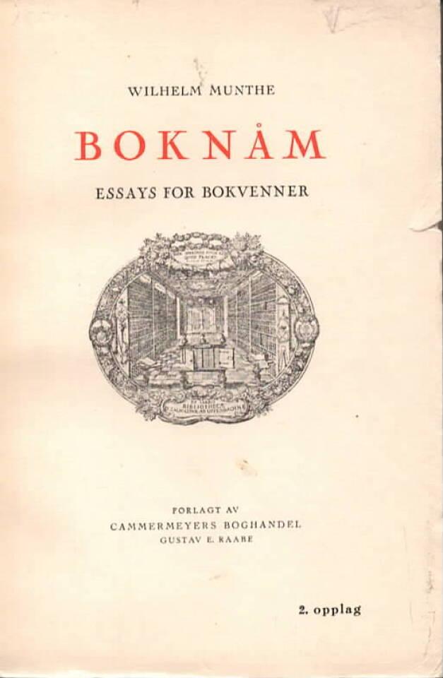 Boknåm – Essays for bokvenner