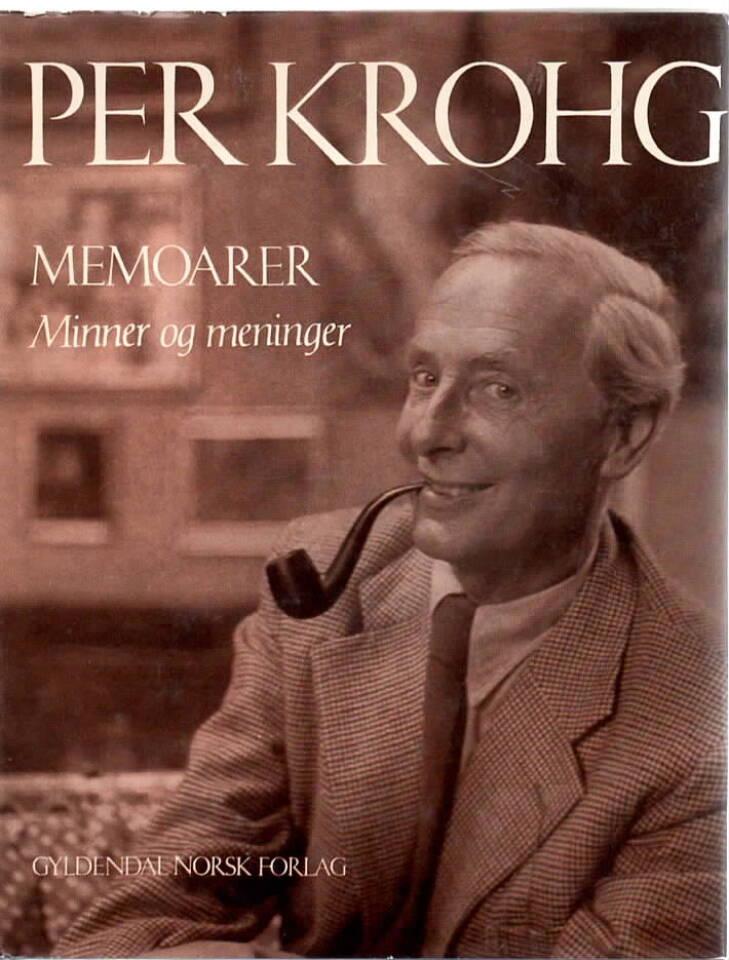 Per Krogh – memoarer, minner og meninger