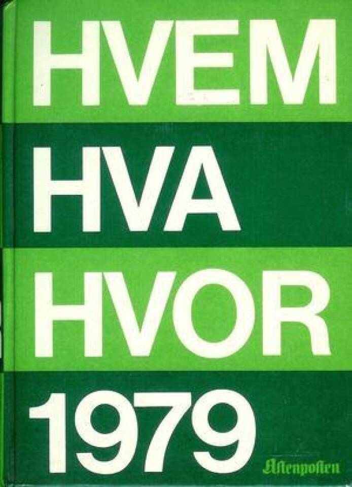 HVEM HVA HVOR 1979