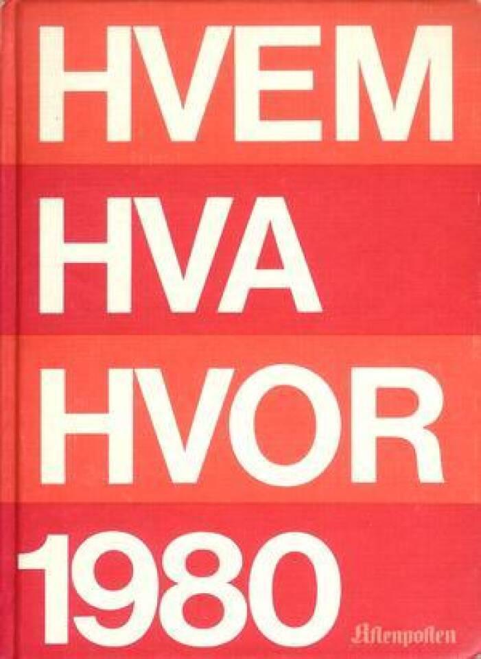 HVEM HVA HVOR 1980